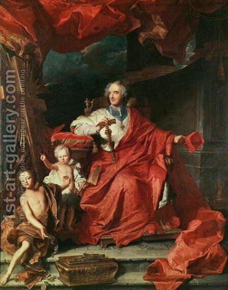 Cardinal de Bouillon by Hyacinthe Rigaud - Reproduction Oil Painting