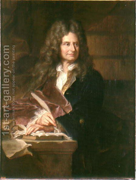 Nicolas Boileau by Hyacinthe Rigaud - Reproduction Oil Painting