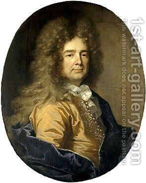 Portrait of a Man Possibly Franis de Chambrier by Hyacinthe Rigaud - Reproduction Oil Painting