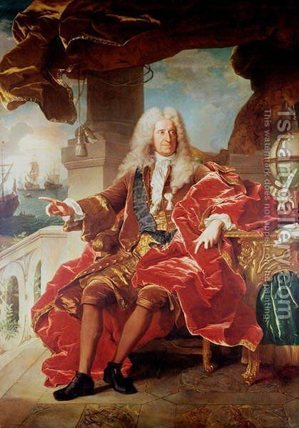 Portrait of Samuel Bernard by Hyacinthe Rigaud - Reproduction Oil Painting