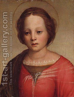 Head of the Madonna fragment by Andrea Del Sarto - Reproduction Oil Painting