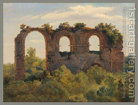 Remains of an Aqueduct late 1820s by Andre Giroux - Reproduction Oil Painting
