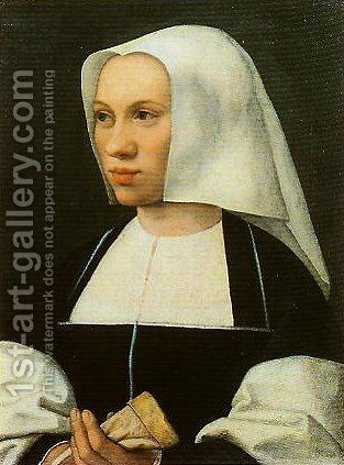 Portrait of a Woman by Bernaert van Orley - Reproduction Oil Painting