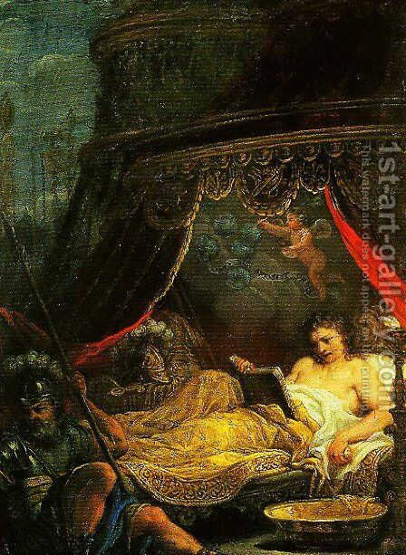 Alexander Reading Homer by Ciro Ferri - Reproduction Oil Painting