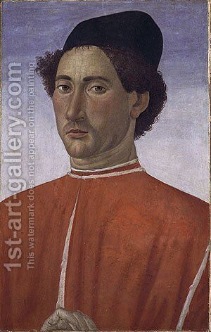 Portrait of a Man ca 1481 by Cosimo Rosselli - Reproduction Oil Painting
