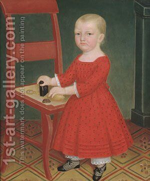 Boy with Blond Hair 1840 by Anonymous Artist - Reproduction Oil Painting