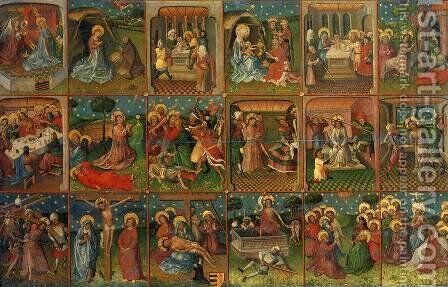 Eighteen Scenes from the Life of Christ 1435 by Anonymous Artist - Reproduction Oil Painting