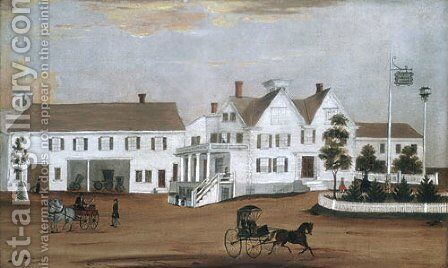 Hudson House 1882 by Anonymous Artist - Reproduction Oil Painting