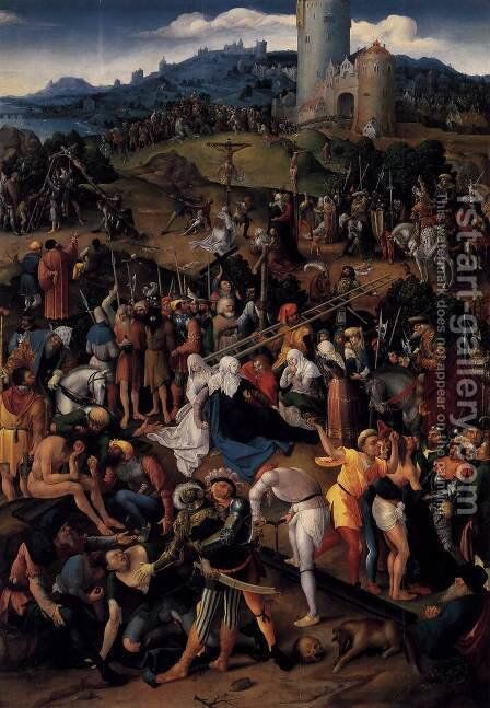 Mount Calvary 1520 by Anonymous Artist - Reproduction Oil Painting