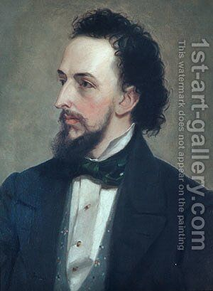 Portrait of a Man 1850 by Anonymous Artist - Reproduction Oil Painting