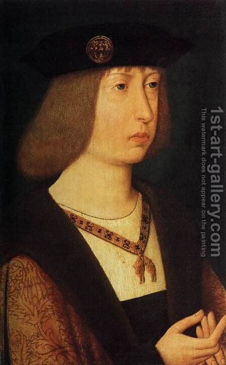 Portrait of Philip the Handsome 1500 by Anonymous Artist - Reproduction Oil Painting