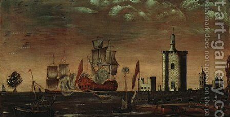 Seascape Fantasy 1770 1800 by Anonymous Artist - Reproduction Oil Painting