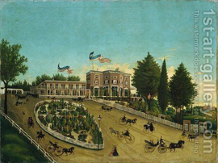 The Claremont 1855 by Anonymous Artist - Reproduction Oil Painting