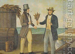 Tobacco Sign 1850 by Anonymous Artist - Reproduction Oil Painting