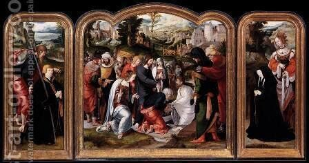 Triptych 1520 by Anonymous Artist - Reproduction Oil Painting