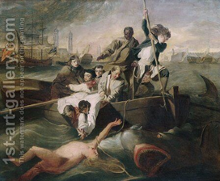 Watson and the Shark 1778 by Anonymous Artist - Reproduction Oil Painting