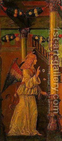 The Angel of the Annunciation by Domenico Morone - Reproduction Oil Painting