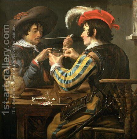 The Card Players 5 by Theodoor Rombouts - Reproduction Oil Painting