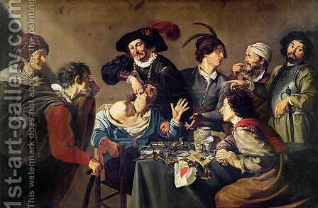 The Tooth Extractor by Theodoor Rombouts - Reproduction Oil Painting