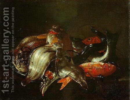Fish by Giuseppe Recco - Reproduction Oil Painting