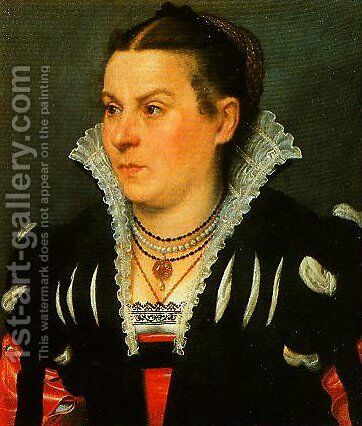 Portrait of a Noblewoman by Giovanni Battista Moroni - Reproduction Oil Painting