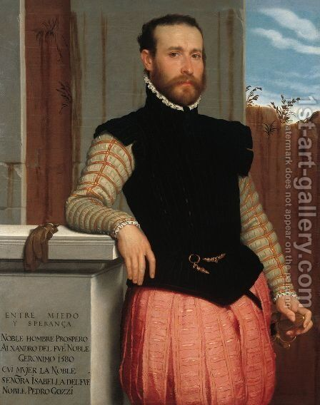Portrait of Prospero Alessandri 1560 by Giovanni Battista Moroni - Reproduction Oil Painting