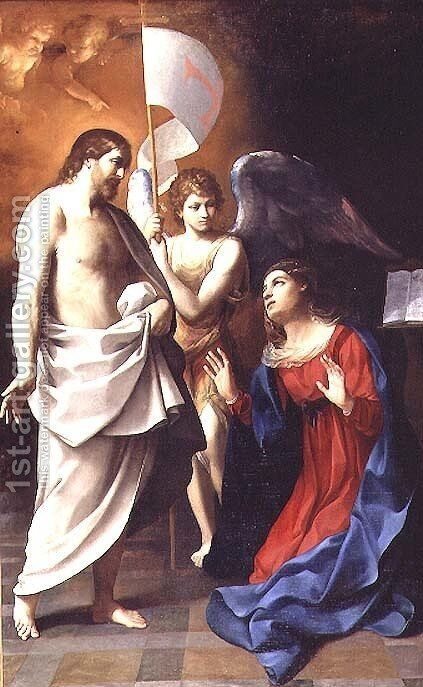 Christ Appearing to the Virgin 1608 by Giovanni Martinelli - Reproduction Oil Painting