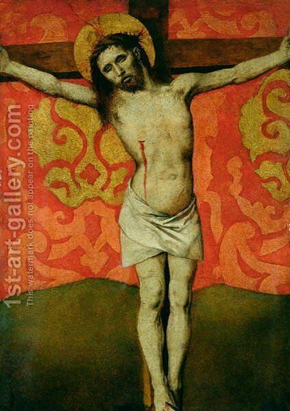 Christ on the Cross 1445 50 by Barthelemy d' Eyck - Reproduction Oil Painting