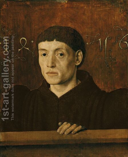Portrait of a Man 1456 by Barthelemy d' Eyck - Reproduction Oil Painting