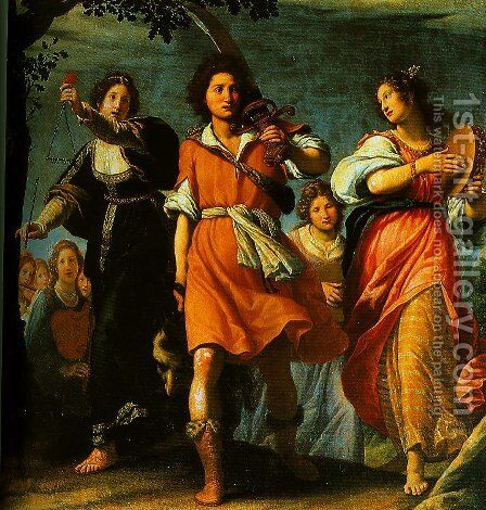 The Triumph of David 2 by Matteo Rosselli - Reproduction Oil Painting