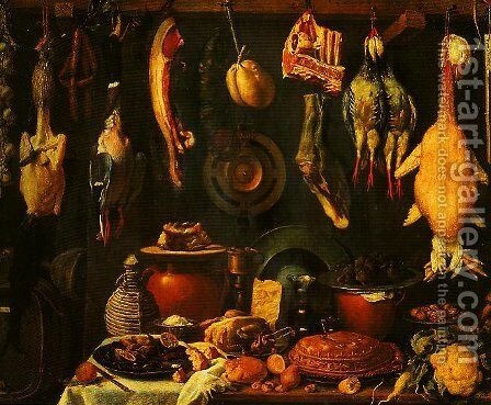 Still Life with Game by (Jacopo Chimenti) Empoli - Reproduction Oil Painting