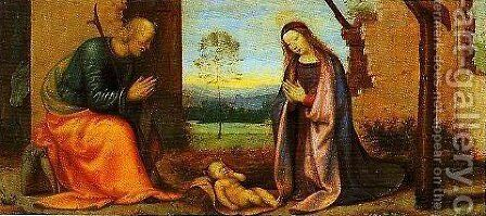 The Nativity by Mariotto Albertinelli - Reproduction Oil Painting