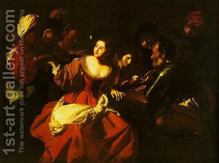 Scene of Game with a Fortune-teller by Anthony Regnier - Reproduction Oil Painting