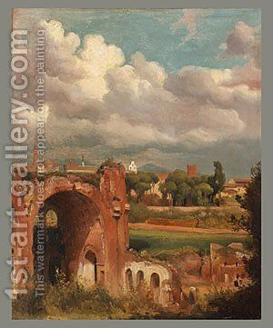 View from the Palatine Rome 1821 by Jean-Charles Joseph Rémond - Reproduction Oil Painting
