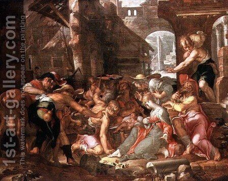 The Adoration of the Shepherds by Joachim Wtewael - Reproduction Oil Painting