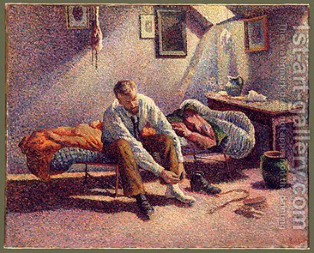 Morning Interior 1890 by Maximilien Luce - Reproduction Oil Painting