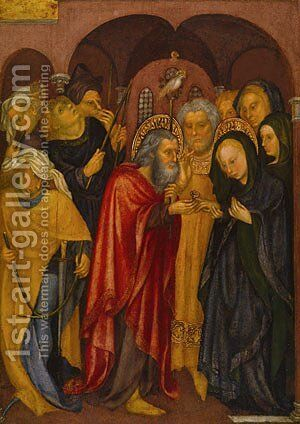The Marriage of the Virgin ca 1430 by Michelino da Besozzo - Reproduction Oil Painting