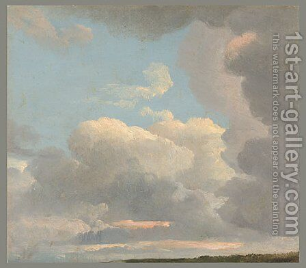 Study of Clouds ca 1800 by Simon-Joseph-Alexandre-Clement Denis - Reproduction Oil Painting