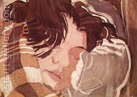 Sleeping Woman by Gyula Derkovits - Reproduction Oil Painting