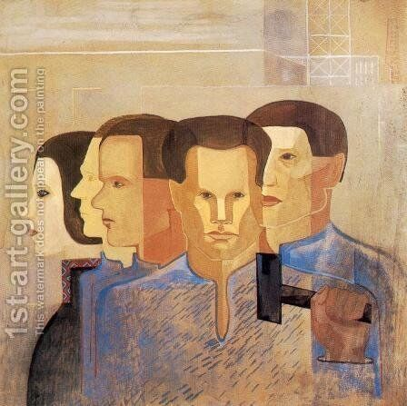 Crowd 1931 by Imre Nagy - Reproduction Oil Painting