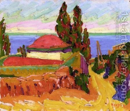 Corsican Landscape 1907 by Armand Schonberger - Reproduction Oil Painting