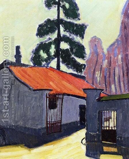 Entrance to the Corbeau Mill 1908 by Armand Schonberger - Reproduction Oil Painting