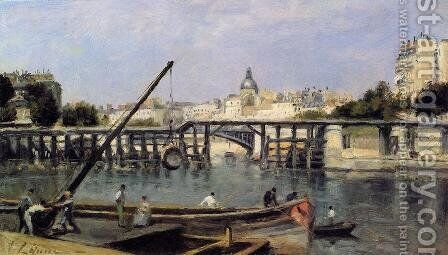 The Saine 1870 by Stanislas Lepine - Reproduction Oil Painting