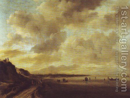 Beachscape with dunes by Jacob Van Ruisdael - Reproduction Oil Painting
