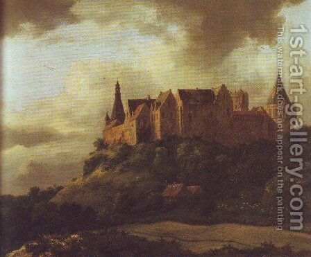 Bentheim castle3 by Jacob Van Ruisdael - Reproduction Oil Painting