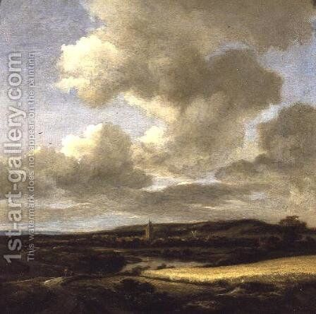 Landscape with Cornfield by Jacob Van Ruisdael - Reproduction Oil Painting