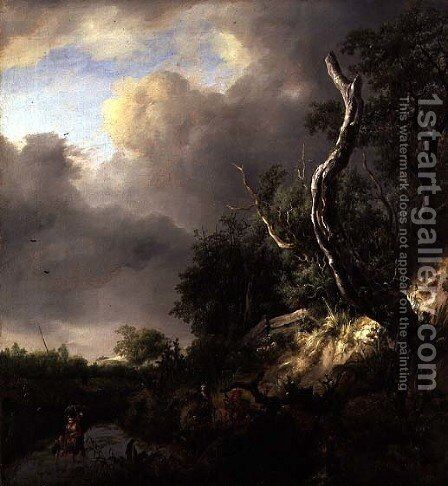 The Dunes near Haarlem by Jacob Van Ruisdael - Reproduction Oil Painting
