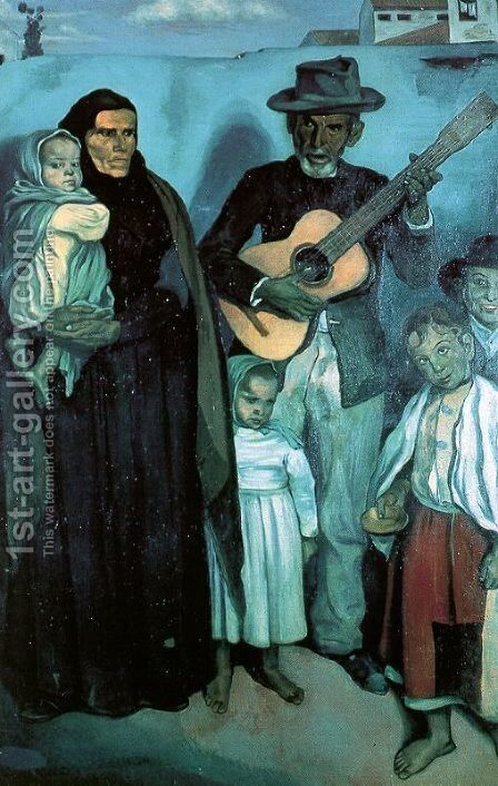 Spanish Musicians, 1897 by Emile Bernard - Reproduction Oil Painting