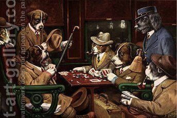 His Station And Four Aces by Cassius Marcellus Coolidge - Reproduction Oil Painting