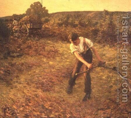 Mowing Bracken 2 by Henry Herbert La Thangue - Reproduction Oil Painting